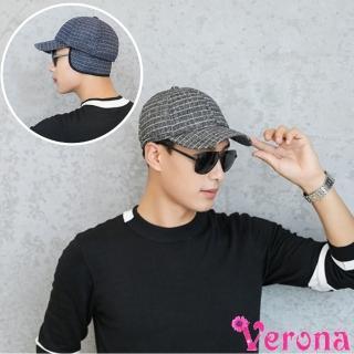 【Verona】騎士型秋冬耳罩厚款保暖棒球帽(四色可選)