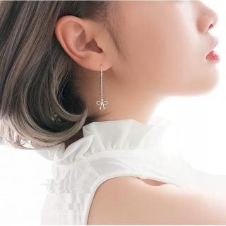 【梨花HaNA】韓國925銀甜蜜禮物蝴蝶結耳線耳環