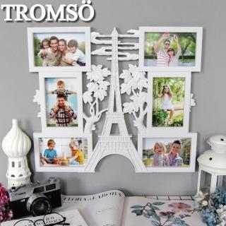 【TROMSO】雲端鐵塔優雅白6框組(組合相框)