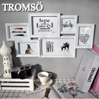 【TROMSO】北歐樂活白刷舊6框組(組合相框)