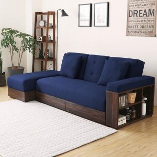 【MODERN DECO】麥西蒙日式多功能收納沙發床-5色(沙發床 收納沙發 收納 皮沙發 布沙發)