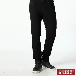 【5th STREET】男1970中直筒褲-黑色