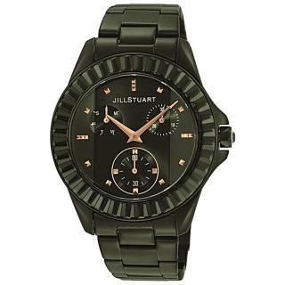 【JILL STUART】Prism系列簡約晶鑽三眼錶款(黑 JISILDK002)