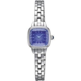【JILL STUART】Ring Square系列優雅時尚方型錶款(銀/藍紫面 JISILDV003)