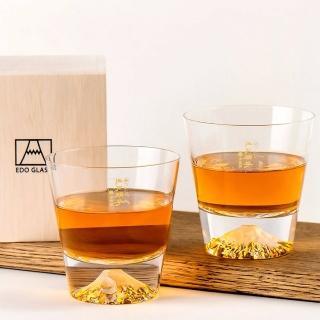 【田島硝子】日本手工吹製富士山威士忌杯組(TG15-015-R+TG15-015-R)