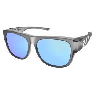 【ZIV 運動太陽眼鏡】外掛式太陽眼鏡(霧透灰-藍水銀#S103 040)