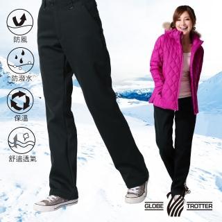 【遊遍天下】女款保暖防風刷毛長褲(L-2L)