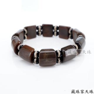 【藏珠家】墨玉髓升官發財板珠天珠手鍊