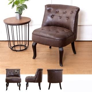 【Bernice】班尼頓美式復古風仿舊皮沙發單人座椅