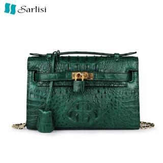 【Sarlisi】真皮鱷魚皮包女包凱莉包輕奢斜背包手提包(新款特賣14800 全網同款最低價)