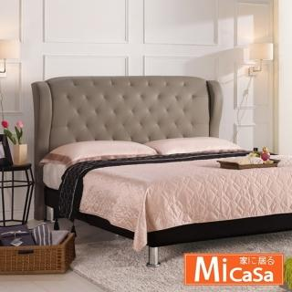 【MiCasa】多娜思 雙人加大6尺床頭片(駝色皮)