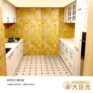【大巨光】雙一字型精緻廚具/韓國石檯面/高壓成型門板/500公分/不含三機設備(廚具加高身櫃400+100cm)