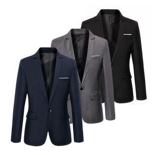 【美國熊】都會時尚 合身剪裁 單釦款休閒西裝外套(NJK-64)
