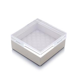 【Finara 費納拉】夏琳-奶油白色-正方形首飾盒(S)