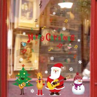 【JB 時尚壁貼】音樂吉他聖誕老人