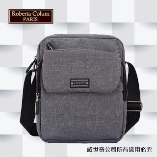 【Roberta Colum】諾貝達 百貨專櫃 男仕多功能防潑水側背包(PX501-2 灰色)