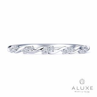 【A-LUXE 亞立詩】18K金0.05克拉鑽石線戒