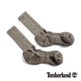 【Timberland】男款灰褐色吸汗環保羊毛半筒襪(SW129236)