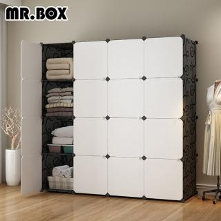 【Mr.Box】加大型16格16門收納櫃/置物櫃/書櫃