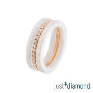 【Just Diamond】Day & Night 日與夜系列 鑽石戒指-Triplet(白)