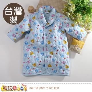 【魔法Baby】嬰幼兒長袍 台灣製鋪棉厚款極暖長袖睡袍(k60782)