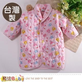 【魔法Baby】嬰幼兒長袍 台灣製鋪棉厚款極暖長袖睡袍(k60784)