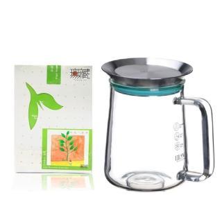 【無藏茗茶】茶覺360玻璃壺+無花不茶原葉三角立體茶包(650ml玻璃壺+茶包3g*10入袋裝)