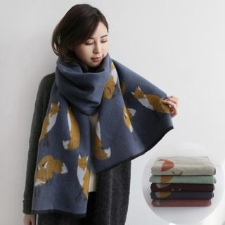【梨花HaNA】韓國仿羊絨小王子的狐狸手感圍巾