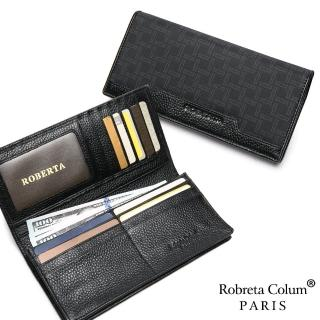 【Roberta Colum】尊爵格調頭層牛皮12卡1照上下翻長夾