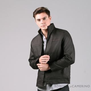 【ROBERTA 諾貝達】帥氣型男 內裡厚舖棉夾克外套(暗褐)