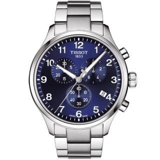 【TISSOT 天梭】TISSOT 天梭Chrono XL韻馳系列經典計時腕錶鐵帶(T1166171104701)