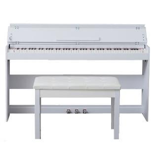 冬季新品 88鍵重鎚力道電鋼琴(純白琴蓋設計 非電子琴音色 DP200 不含椅子)