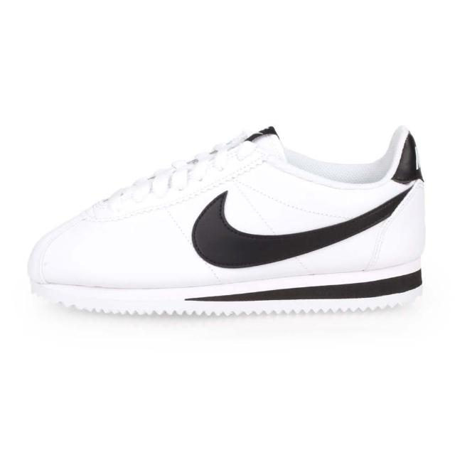 【NIKE 耐吉】女_耐克_WMNS CLASSIC CORTEZ LEATHER_休閒鞋 白黑(807471101)