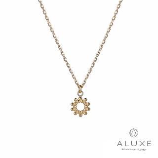 【A-LUXE 亞立詩】日系輕珠寶10K金Sun守護之星項鍊