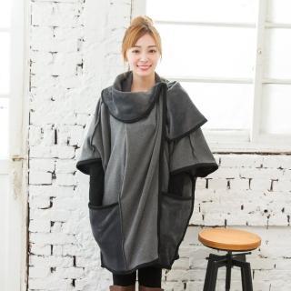 【IRICHI 愛瑞琪】韓國原創設計造型保暖大衣(灰色)