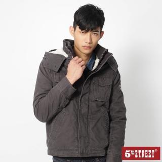 【5th STREET】男平織鋪棉長袖外套-灰色