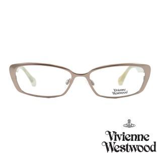 【Vivienne Westwood】光學鏡框典雅英倫風-玫瑰金-VW287V 04(玫瑰金-VW287 V04)