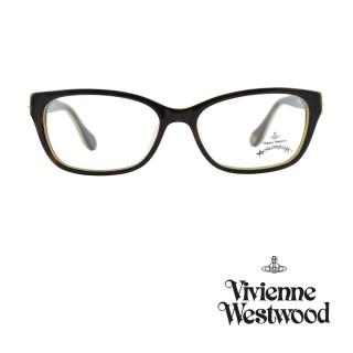 【Vivienne Westwood】光學鏡框優雅土星造型英倫風-琥珀咖/乳黃色-AN258  03(琥珀咖/乳黃色-AN258  03)
