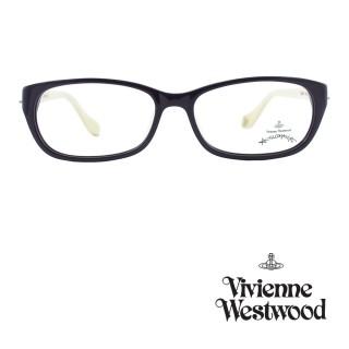【Vivienne Westwood】光學鏡框前衛雙色造型英倫風-暗紫/象牙白-AN261 04(暗紫/象牙白-AN261   04)