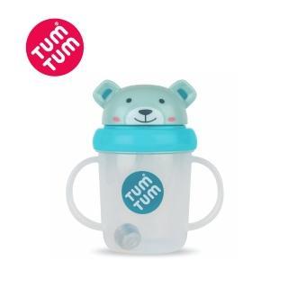 【Mamas & Papas】小熊波里斯-頭蓋型防漏學習水杯200ml(藍色)