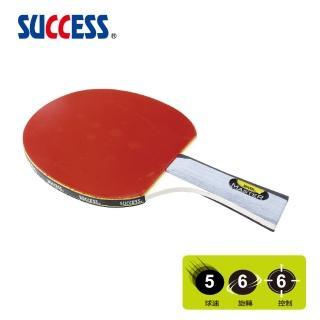 【SUCCESS 成功】刀柄五夾光面桌球拍附球-初學級S3112