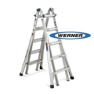 ~WERNER~加贈站立平台~美國Werner鋁梯~MT~22 鋁合金伸縮式多 梯 萬用梯