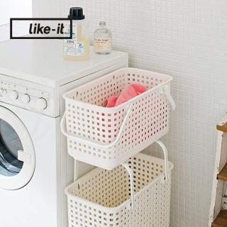 【日本like-it】可堆疊加高洗衣隙縫籃-M-1入