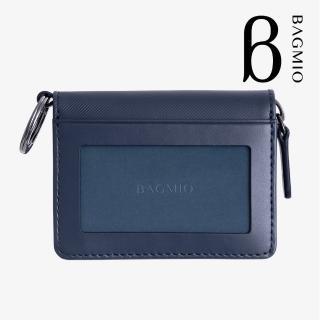 【BAGMIO】vigor 牛皮鑰匙零錢包-午夜藍