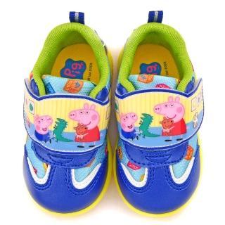 【童鞋城堡】粉紅豬小妹 中童 針織布輕量運動鞋(PG8552-藍)