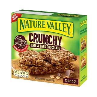 【NATURE VALLEY】天然谷 纖穀派 黑巧克力燕麥(21gx2片x5條/盒)