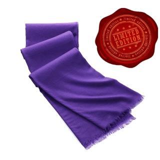 【5TH AVE】第五大道400支紗Shahpashm披肩(紫羅蘭)