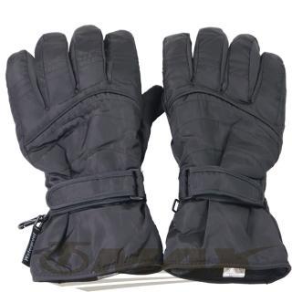 【OMAX】帥氣防寒防潑水機車手套-男用-黑色