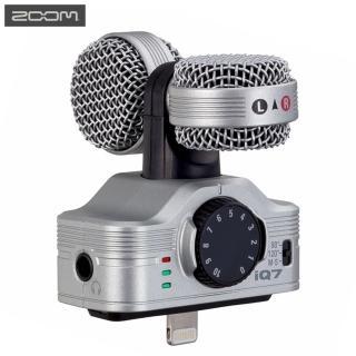 【日本ZOOM】立體聲收音錄音麥克風iQ7(44.1kHz 48Hz 16bit具監聽3.5mm耳機孔TRS適Apple蘋果iPhone iPad)
