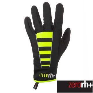 【ZeroRH+】義大利 CODE 專業防風保暖自行車手套(螢光黃 ICX9173_917)